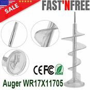 Auger Wr17x11705 For Ge Refrigerator Freezer Ice Bucket Ap3672963 Ps964350 Us Hp