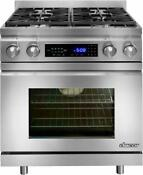 Dacor Distinctive 30 Inch Pro Style Slide In Dual Fuel Range Dr30dihlph