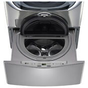 Lg Sidekick Wd200cv 1 Cu Ft 29 In Pedestal Washer Graphite Steel