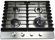 24 In Stainless Gas Cooktop Home Kitchen Accessory Burner Stove Counter Silver