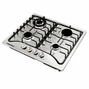 Us Shipping 23 Stainless Steel 4 Burners Cooker Built In Natural Gas Cooktop