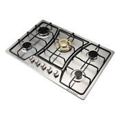 30 Gold Main Stove 5 Burners Stainless Steel Built In Gas Cooktop Ng Lpg Hob