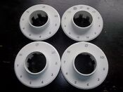 Rare Set Of Four Dacor Stove Oven Range White Knob Skirts