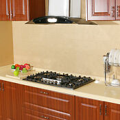 Black Titanium Stainless Steel Cooktops 34 5 Burners Built In Gas Hob Cooktops