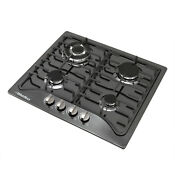 23 Black Titanium Stainless Steel 4 Burners Built In Stove Natural Gas Cooktop