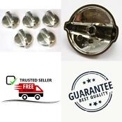 5 Pack Wb03t10284 Knob For Ge Stove Ap4346312 Ps2321076 Stainless Steel Finish