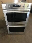 New Ge Monogram 30 Double Electric Wall Oven Model Zet2sh2ss