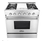 36 Thor Kitchen 4 Burner Gas Range Cooker Stainless Freestanding Hrg3617u New