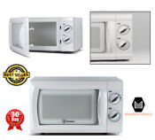 Built In Compact Microwave Oven Small Apartment Dorm Room Kitchen Cooking White