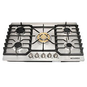 30 Gas Cooktops Stainless Steel Gold 5 Burner Built In Stoves Natural Gas Hob