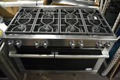 Miele M Touch 48 Stainless Steel Pro Style Dual Fuel Natural Gas Range Hr1954g