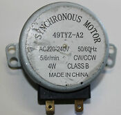 Microwave Turntable Synchronous Motor 49tyz A2 220 240volt 50 60hz 4w 5 6 R Min