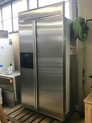 Stainless Steel Kitchenaid Side By Side Built In Refrigerator Model Kssp42qhs00