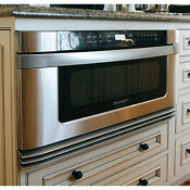 Sharp Insight Pro Series Built In Stainless Steel Drawer Microwave 24