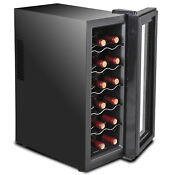 Wine Refrigerator Quiet Operation Digital Temperature Control Compact Cooler