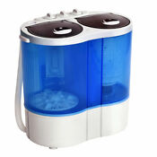 Mini Portable Washing Machine Twin Tub 15 4lbs Compact Washer Spin Spinner