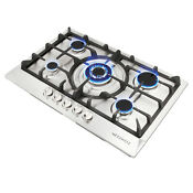 Euro 30 Inch Stainless Steel 5 Burner Built In Stoves Ng Lpg Gas Cooktop Cooker
