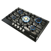30 Black Titanium Golden Cooktops 5 Burner Built In Stoves Gas Cooktops