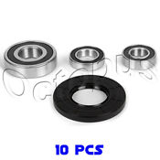 10pcs Whirlpool Duet Washer Bearing Seal Kit W10253864 8181666 Ap4426951