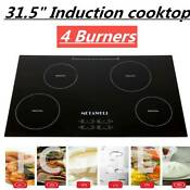 31 5 Inch 240v Induction Hob 4 Burner A Grade Glass Plate Electric Stove Cooktop