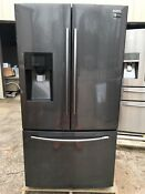 Samsung Rf263beaesg 24 6 Cu Ft French Door Refrigerator Stainless Steel Black