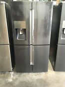 Samsung Appliance Rf28k9380sg 36 Black Stainless Steel French Door Refrig 3457