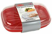 Easy Cook Pendeford Microwave Fish Steamer Red 6262