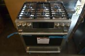 Ge Cafe 30 Stainless Steel 6 Burner Convection Dual Fuel Range C2s986selss
