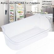Clear Refrigerator Gallon Door Bin Shelf For Frigidaire 240356402 Ap2549958