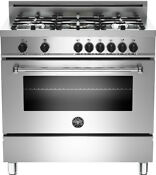 Bertazzoni Mas365dfmxe36 Inch Pro Style Dual Fuel Range With 4 4 Cu Ft Convect