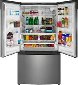 Insignia 26 6 Cu Ft French Door Refrigerator Stainless Steel