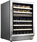 Phiestina 46 Bottle Wine Cooler 24 Inch Dual Zone Built In Or Freestanding Wi