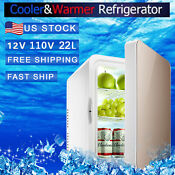 110v Portable 12v 22l Car Mini Fridge Freezer Travel Cool Warmer Refrigerator Bl
