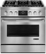 Jenn Air 36 Dual Fuel Freestanding Range Convection Stainless Steel Jdrp436wp
