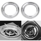 2pcs Stainless Steel Stove Drip Pan Capture Catch Spills Prevent Electric Shock