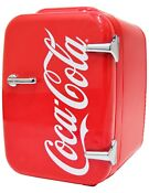 Cooluli Retro Coca Cola Portable 4 Liter Mini Fridge Cooler Warmer For Dorm Car