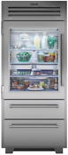 Sub Zero Pro3650g Lh 36 Refrigerator Freezer W Glass Door Left Hinge Stainless