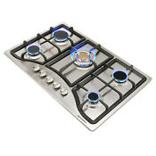 30 Inch 5 Burner Built In Gas Cooktop Stainless Steel Top Ng Lpg Usa Seller