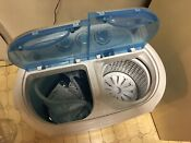 Portable Mini Compact 10lbs Washing Machine Twin Tub Washer Spinner Dryer Blue