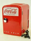 Official Coca Cola Licensed Mini Fridge Coke Memorabilia 2014 Koolatron Kwc 4