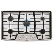 Lg Lcg3611st 36 In Gas Cooktop In Stainless Steel With 5 Burners
