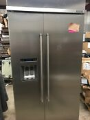 Kitchenaid Kbsd602ess 25 5 Cuft 42 Width Built In Side By Side Refrigerator Ss