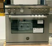 Bertazzoni Mast365gasxe 36 Gas Range With 5 Aluminum Burners Stainless Steel