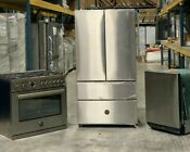 Bertazzoni 3 Piece Kitchen Package W French Door Refrigerator Gas Range And Dw