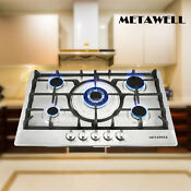 Usa 30 Inch Stainless Steel 5 Burner Built In Stoves Ng Lpg Gas Cooktop Cooker