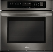Lg Easyclean Self Cleaning True Convection Single Electric Wall Oven Black Stain