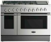 Dcs Rgv2486gdn 48 Gas Range With 5 3 Cu Ft Convection Oven Stainless Steel