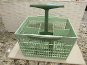 Dishwasher Silverware Basket 116 D51291 Six Compartments Handle Green Ge