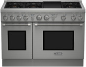Thermador Prg486gdh Pro Harmony 48 Inch Pro Style Gas Range 6 Burners W Griddle