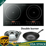 Electric Dual Induction Cooker Portable Cooktop Burner 1200w 1200w Touch Key Usa